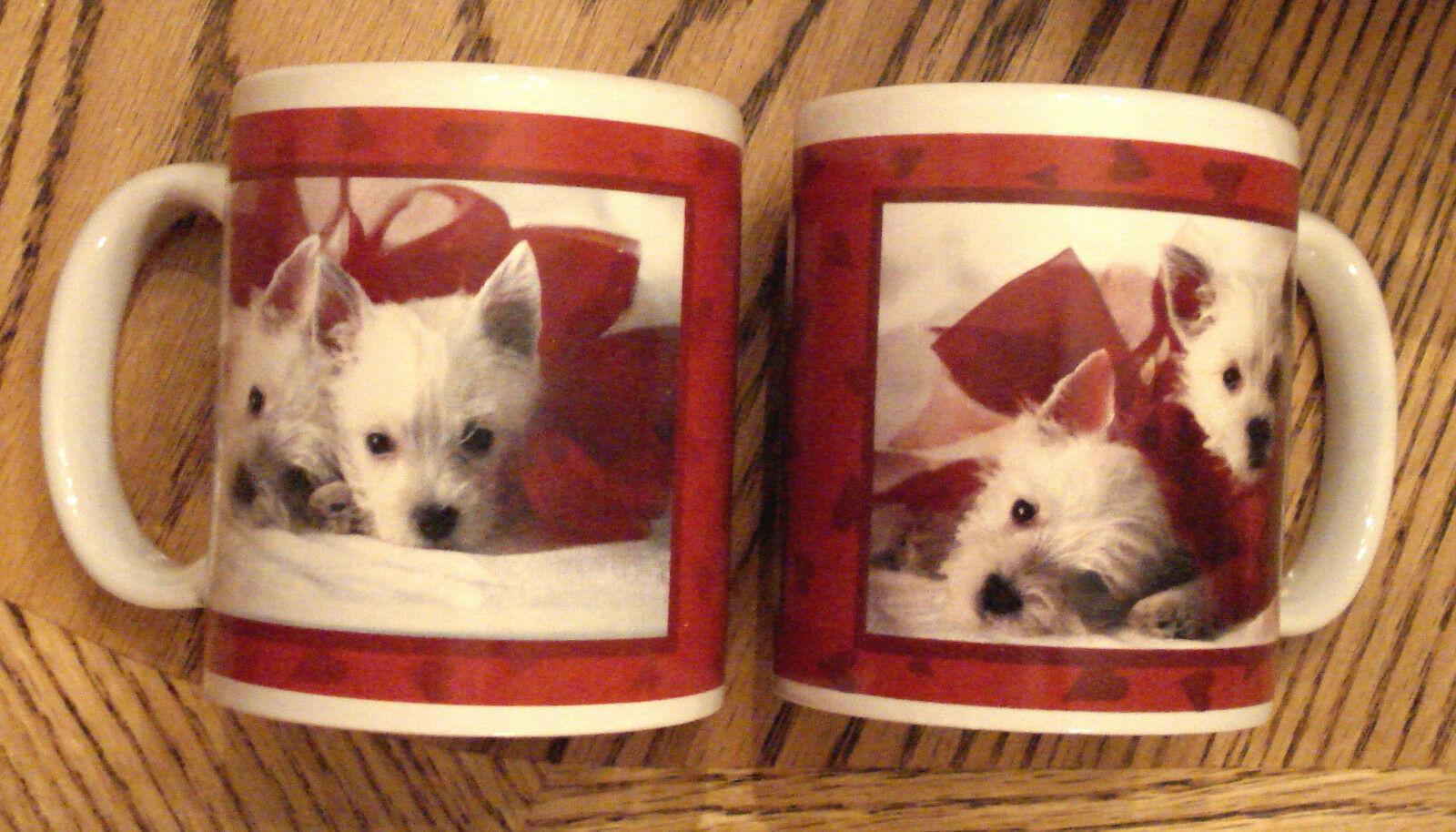 WEST HIGHLAND TERRIER COFFEE MUG LOT His & Hers Hallmark CAIRN WESTIE DOG LOVERS