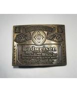 Estate Vintage Large Budweiser Belt Buckle C2523 - $24.09