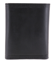 Nautica Men's Genuine Vintage Leather Credit Card Id Trifold Wallet image 5