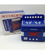 Kinder Akkordeon Arbeiten Sounds Great 7 Schlüssel Spielzeug Blau Schyll... - $14.50