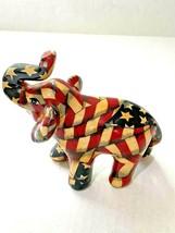 """La Vie American Flag Elephant Figurine 4.5"""" Tall - $14.00"""