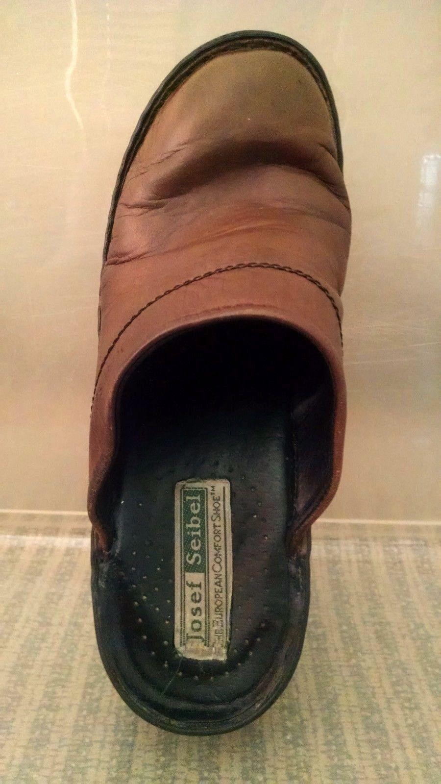 Josef Seibel Womens Clogs 38 EU 7 - 7.5 US Mules Slip On European Comfort Shoe image 6