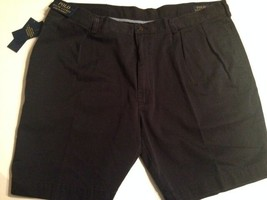 "Polo Ralph Lauren Classic Fit Pleated 9"" Navy Shorts Size 42 - $34.13"