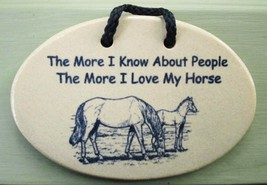HORSE LOVER Inspirational Humor by MOUNTAINE MEADOWS Hndmade Pottery Pla... - $9.49