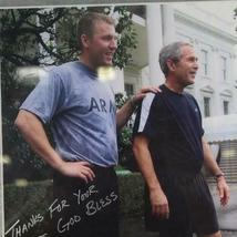 "Autograph Signed Photo President George W. Bush Frame 17""x15"" Army Veteran image 3"