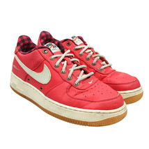 NIKE Air Force 1 LV8 GS Action Red Sail Cobalt Sneakers 6Y / W 7.5 82043... - $44.54