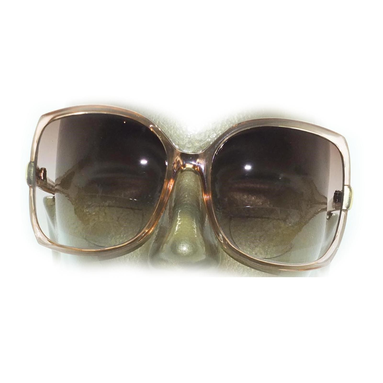Big Bold Bifocal Sunglasses Readers Huge Runway Fashion Caramel Frame +2.75 Lens