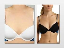 Calvin Klein X Cotton T-Shirt Bra D1502 Black / White 32C or 32D - $22.00