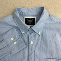 Charles Tyrwhitt Button Up Shirt Mens Medium Slim Fit Blue Long Sleeve C... - $22.95