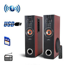 New beFree Sound 2.1 Channel Powered Bluetooth Dual Wood Tower Speakers ... - $155.41