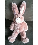 Build A Bear Tan Bunny With Pink Bendable Ears Growls 20 in EUC - $9.89