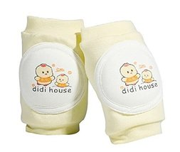 1 Pair Cartoon Crawling Baby Knee Pads Toddler Knee Pads Protector YELLOW