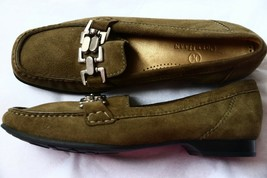 Cole Haan Women`s Leather Suede Shoes Loafers 6 B Hazel Green Moccasin C... - $29.69