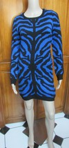 Romeo & Juliet Couture Black and Blue Animal Print Sweater Dress NWT Sz ... - $20.31
