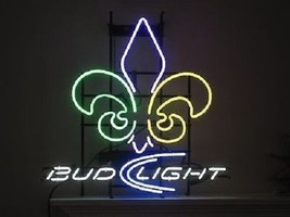 "New Bud Light New Orleans Saints Neon Sign 20""x16"" Ship From USA - $123.00"