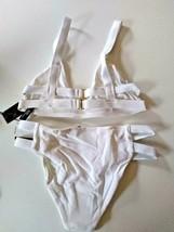 Tavik Ribbed White Halter Bikini Set Size X Small image 2