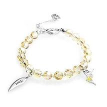 "Swarovski Tinkerbell Wings Bracelet ""TRUST"" Yellow Crystal 1155524 with box - $37.04"