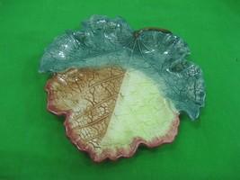 Vintage Fitz & Floyd Fall Leaf Ceramic Porcelain Candy Nut Dish - $13.98