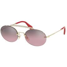 New Miu Miu SMU60TS ZVN-095 GOLD/PINK Authentic Sunglasses 54-140 - $231.82
