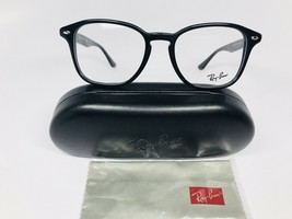 New Authentic Ray Ban RB 5352 2000 Black Eyeglasses 52mm with Case & Cloth - $94.02