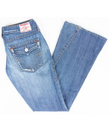 True Religion World Tour Joey Flare Leg Womens Jeans Medium Wash Size 30/33 - $24.47