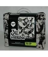 No Sew Fleece Throw Kit 11059045 Black White Paisley 48 X 60 Inches - $24.99