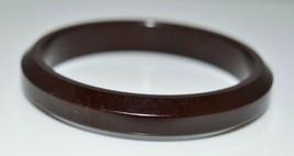 VTG Dark Brown BAKELITE TESTED Bangle Bracelet - $123.75