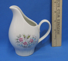Vintage Mid Century Translucent China Company by Harker Flower Creamer Off White - $9.89