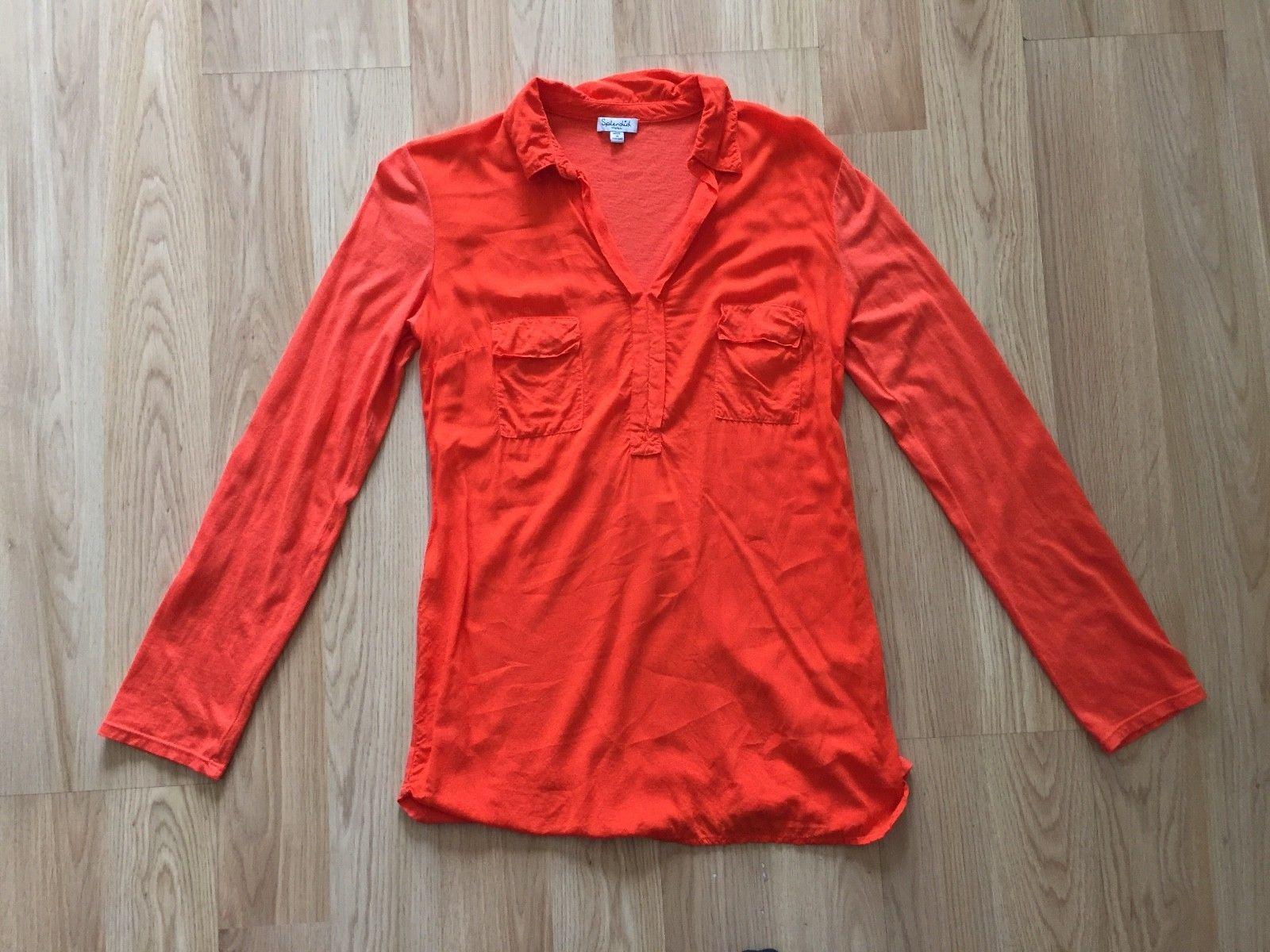 Splendid long sleeve orange top sz S/P