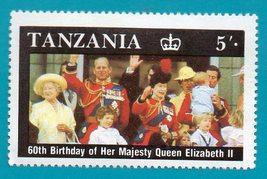 Mint Tanzania Postage Stamp (1987) Queen Elizabeth 60th Birthday Scott C... - $1.99