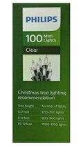 Philips 100ct Christmas Incandescent Smooth Mini String Lights Clear GW image 4