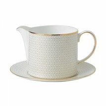 Wedgwood Arris Gravy Boat & Stand NEW - $128.69