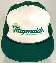 FITZGERALDS Casino Hotel Trucker Hat-Green White-Mesh-Snapback-Rope Bill... - $14.01