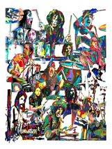 "Drummers, John Bonham, Keith Moon, Tommy Lee, Ringo Starr, 18""x24"" Art P... - $19.99"