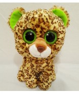 "Speckles Leopard Plush Stuffed Animal 9"" Ty Beanie Boos 2012 Large Eyes - $12.99"