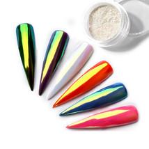 0.2g Nail Art Powder Iridescent Trend Mirror Mermaid Effect DIY Glitter ... - $2.10