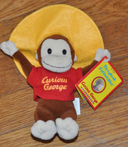 """Curious George Adventures NEW 8"""" Monkey bean Plush Stuffed Equity w somb... - $15.99"""