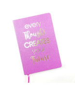 Glitter Journal Every Thought Creates Your Future Inspirational - $11.55