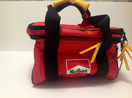 Marlboro Insulated Soft Red Lunch Box Picnic Tote Bag Food Drink Travel ... - €13,27 EUR