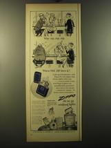 1950 Zippo Cigarette Lighter Ad - Why Zip, Zip, Zip, when one-zip does it! - $14.99