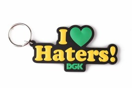 DGK Black Green Yellow I Love Haters Keychain Motivation Dirty Ghetto Kids NEW