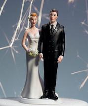 """Love Pinch"" Bridal Couple Wedding Cake Topper CUSTOMIZATION & VEIL AVAI... - $34.64"