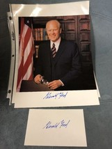 Gerald Ford hand signed  autographed 8x10 photo w/ Autographed Index card - $245.00