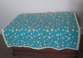 Vintage Tweety Bird Baby Child Quilt Green Yellow Black Warm! - $70.13