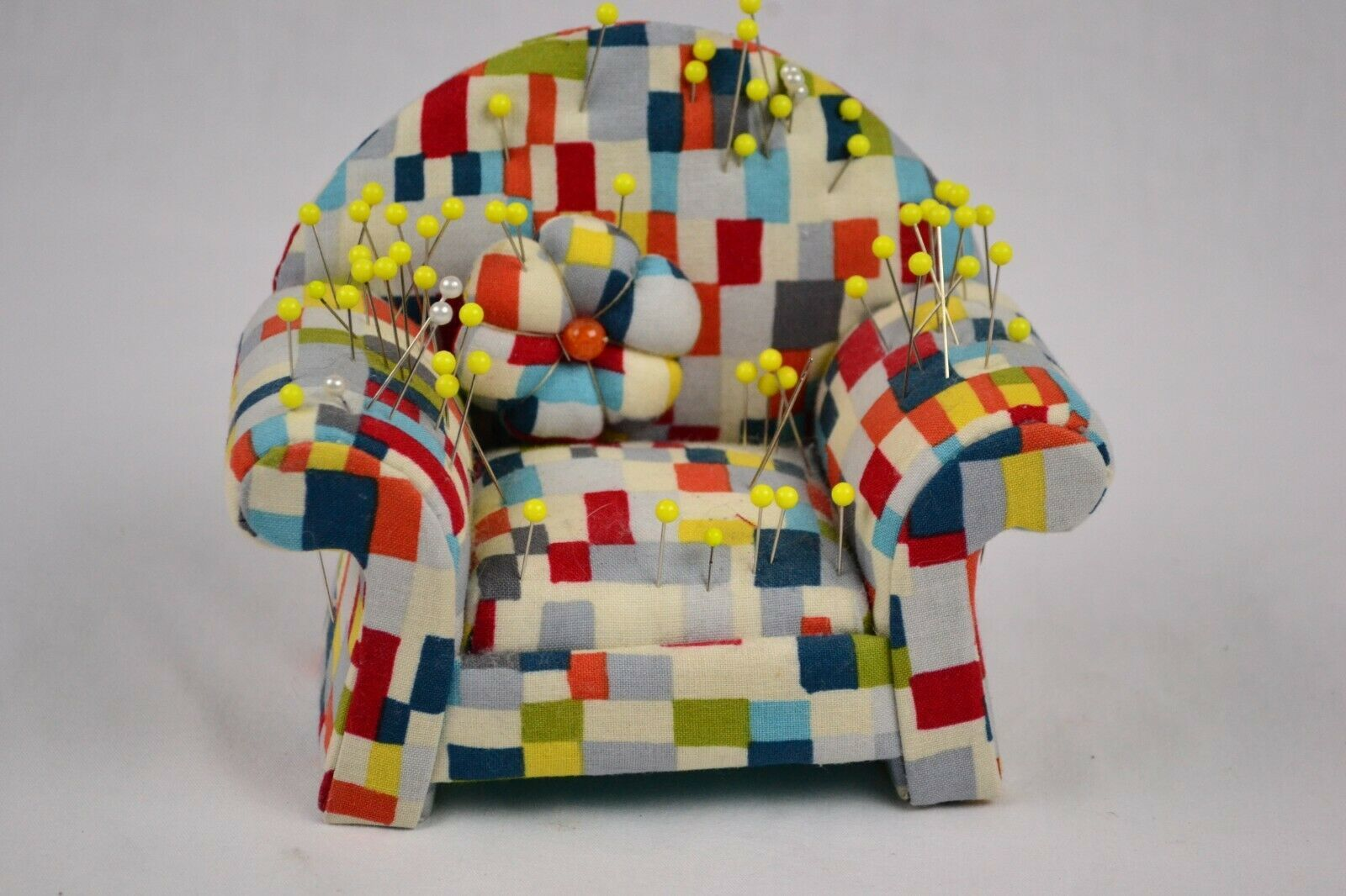 Couch Pin Cushion With Pins, Cute