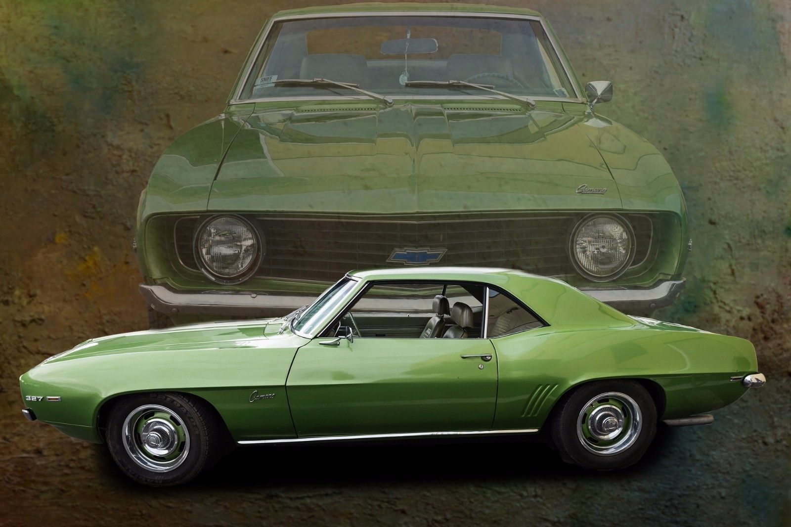 Primary image for 1967 Camaro green 24X36 inch poster, sports car, muscle car