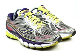 Saucony Ride 7 Women's Purple Gray Yellow Running Athletic Shoes Size 9 ... - $38.35
