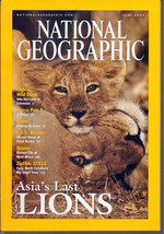 National Geographic June 2001 Asia's Last Lions, Cilie's, Marco Polo II,... - $3.99