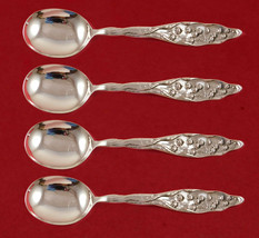 "Lily of the Valley by Whiting Sterling Silver Gumbo Spoon 4-piece Set 7 3/4"" - $987.05"