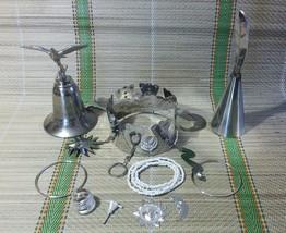 Set Obatala Tools Crown Agogo Ileke Corona Obbatala Campana Herramientas... - $53.99